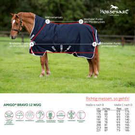 Horseware Amigo Bravo 12 Wug 150 g Weidedecke